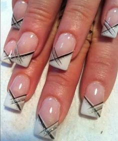 Whit – french nail art – – MY World French Manicure Short Nails, Short Nails Art, Manicure And Pedicure, French Manicures, French Tip Nail Designs, French Nail Art, Nail Art Designs, Nails Design, Nagellack Trends