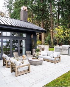 Casa Patio, Backyard Patio, Backyard Landscaping, Outside Living, Outdoor Living, Design Jardin, Outdoor Spaces, Outdoor Decor, Outdoor Furniture
