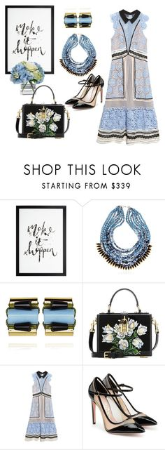 """It's Happening"" by nisha-naenae ❤ liked on Polyvore featuring NIGHTMARKET, Diane James, Dolce&Gabbana, self-portrait and Salvatore Ferragamo"