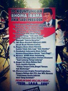 """10 keuntungan Rhoma Irama jika jadi presiden"""