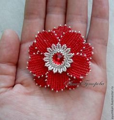 Beading Projects, Beading Tutorials, Beading Patterns, Flower Patterns, Seed Bead Flowers, French Beaded Flowers, Crochet Flowers, Beaded Jewelry Designs, Seed Bead Jewelry