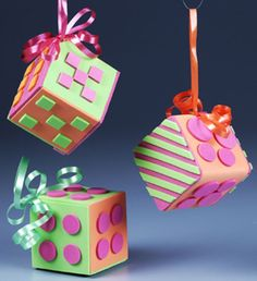 Foamy ornaments! Love this idea as party gifts