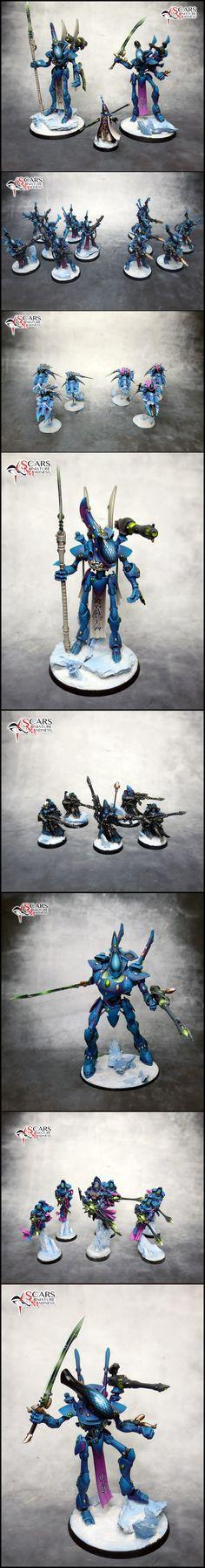 40k - Eldar Army by Darkritual great helmet effect.