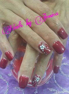 #nailsbyjessicawheeler #gelish #nailart #nails #flower