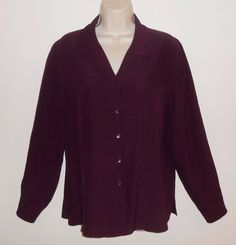 Talbots 10 Silk Blouse Purple Shirt Career #Talbots #Blouse