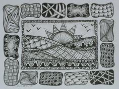 -*Art-Tangel-kunst* ~ Zentangle ~ Zendala ~ Zia -
