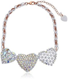 "Betsey Johnson ""White Hearts"" Three Heart Necklace, 18"" Betsey Johnson http://www.amazon.com/dp/B00QGEOTRO/ref=cm_sw_r_pi_dp_j4Plvb0B8B3W4"