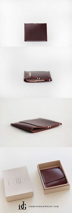 Handmade Leather Short Card Wallets Package Change Purse Women accessories wallet Womens Handmade Leather Card Wallet Slim Wallet Purses for Women Leather Wallet Pattern, Handmade Leather Wallet, Leather Card Wallet, Leather Gifts, Womens Leather Wallet, Men's Leather, Leather Craft, Diy Wallet, Purse Wallet