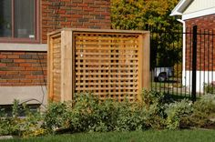 Screen for generator or air conditioning unit Air Conditioner Screen, Backyard, Patio, Conditioning, Deck, The Unit, Outdoor Structures, Front Porches, Backyards