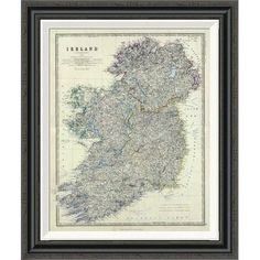 """Global Gallery 'Ireland, 1861' by Alexander Keith Johnston Framed Painting Print Size: 36"""" H x 29.78"""" W"""