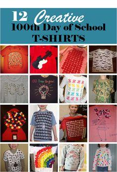 12 fun 100th day of school t-shirts