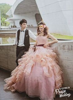 Sweet romantic pink princess ball gown