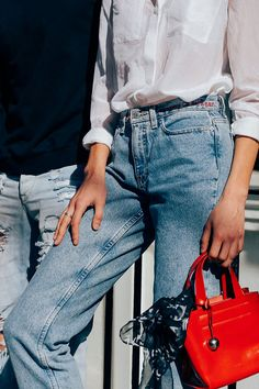 How to Wear Vintage Denim - Vintage Denim Fashion - denim jeans, jackets Cool Outfits, Summer Outfits, Casual Outfits, Look Fashion, Fashion Outfits, Fashion Trends, Denim Fashion, Fashion Bags, Pyjamas
