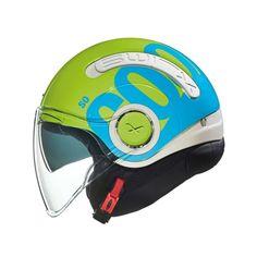 Κράνος Jet #Nexx SX.10 Cooljam Neon Green-Blue Motorcycle Helmets, Bicycle Helmet, Neon Green, Jet, Cycling Helmet, Motorcycle Helmet