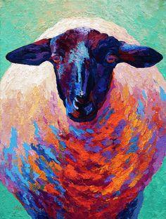 Suffolk Ewe Canvas Print / Canvas Art by Marion Rose