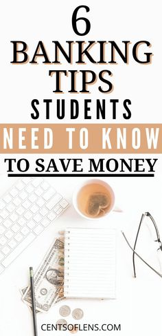 Have you ever wanted to learn more about student banking? Do you want to know how you can save more money by changing up your banking habits? Find out which 6 banking tips students need to know to save money today! College Student Budget, College Tips, College Savings, College Students, Money Tips, Money Saving Tips, Saving For College, Thing 1, Budget Planer