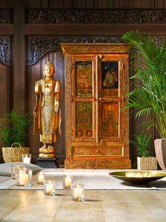 Buffet indien bois recycl karma maisons du monde mdm for Au bon coin 45 meubles