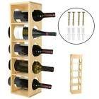 Stacking Wine Rack for 30 Bottles for Wine Soft Drink Sparkling + Spirit Bottles | eBay Wooden Rack, Wood Wine Racks, Wine Rack Wall, Wine Bottle Holder Wall, Wine Racks For Sale, Stackable Wine Racks, Wine Stand, Wine Display, Metal Walls