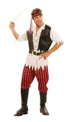This great mens Pirate costume, is perfect for a swashbuckling adventure. This is an adult pirate costume, and will fit most sizes. Adult Pirate Costume, Pirate Fancy Dress, Homecoming Week, Pirate Day, G 1, Pirates, Fairy Tales, Hipster, Costumes