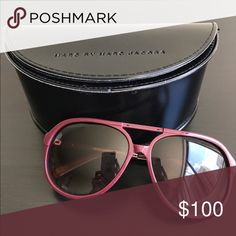 Marc Jacobs sunglasses Selling never worn before burgundy Marc Jacobs oversized aviator sunglasses Marc Jacobs Accessories Sunglasses