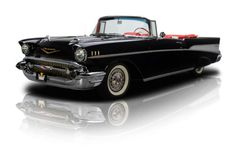 Frame-Off-Restored-Onyx-Bel-Air-Convertible-283-Power-Pack-V8-3-Speed-Manual-PS