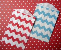 Mini Paper Favor Bags  Carnival Duo  Red and by CakesAndKidsToo, $3.00