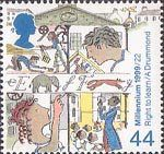 Millennium Series. The Citizens' Tale 44p Stamp (1999) Generations of School Children ('Right to Education')
