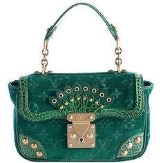 Louis Vuitton Limited Edition Velours Alligator Irvine Satchel Handbag #BBOSBrandBurst