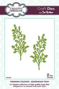 Creative Expressions Craft Dies by Sue Wilson - Finishing Touches Collection - Maidenhair Fern