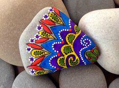 Happiness / Painted Rock Sandi Pike Foundas / Cape Cod Beach Stone