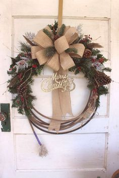 DIY Christmas Decorating Tips selected just for youYou can find Cowboy christmas and more on our website.DIY Christmas Decorating Tips selected just for you Cowboy Christmas, Christmas Bows, Primitive Christmas, Rustic Christmas, Christmas Crafts, Christmas Ornaments, Bohemian Christmas, Primitive Fall, Christmas 2019