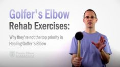 """With a Golfer's Elbow injury, one of the first things you hear is: """"Better do some rehab exercises"""" - But, is exercise really the top priority for healing? Elbow Pain, Knee Pain, Golfers Elbow Exercises, Golfers Elbow Treatment, Tight Hip Flexors, Psoas Muscle, Tennis Elbow, Need To Lose Weight, Priorities"""
