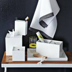 Lacquer Bath Accessories - White | west elm