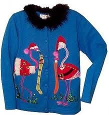 OH SNAP! Ugly Tropical Christmas Sweater! :-D