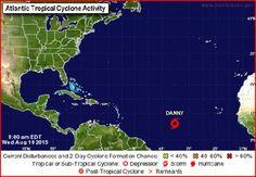 Se forma Danny, cuarta tormenta tropical de la temporada; podria convertirse en huracan