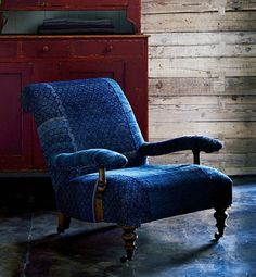 How to decorate your space with denim - Ottoman Empire | Gallery | Glo. I love this chair!