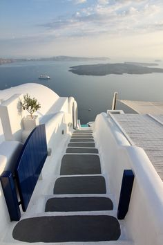 Stairway To Sea In Santorini