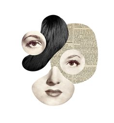 Enjoy the beautiful dada style collages by the French artist and graphic designer Mathilde Aubier. Art Du Collage, Collage Design, Art Design, Face Collage, Graphic Design, Art And Illustration, Illustrations, Collages, Photomontage