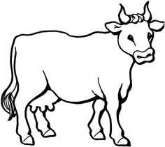Realistic Cow Coloring Pages from Animal Coloring Pages category. Printable coloring sheets for kids you could print and color. Check out our collection and print the coloring sheets free of charge. Farm Animal Coloring Pages, Colouring Pages, Free Coloring, Coloring Pages For Kids, Coloring Sheets, Coloring Books, Cow Drawing, Line Drawing, Colour Drawing