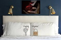 Perfectly Matched Pillow Cases  Funny  Gift  Wedding Perfect