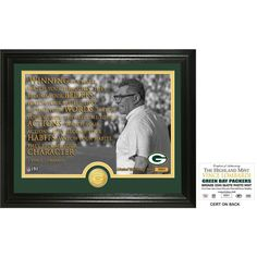 """Vince Lombardi """"Quote"""" Bronze Coin Photo Mint"""