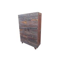 Old Carved Door Almirah | Carved Door Almirah | Wooden Carved Door Armoire | Rustic Carved Door Wardrobe | Indian Almirah