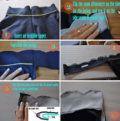 How to Attach Facings with an Invisible Zipper(No Hand Sewing Involved!)