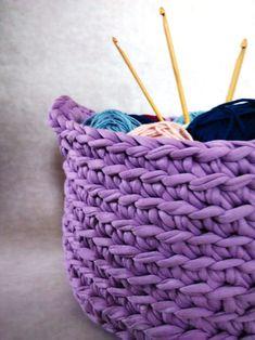 Košík s uchama - fialový - My site Merino Wool Blanket, Bags