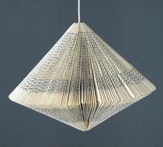 Lámpara con un libro Ecomanía blog