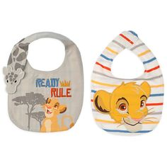Disney Authentic - Simba Bib Set for Baby - 2-Pack - The Lion King - New