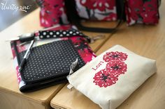 Bold Blooms make personalization even more fun on our Mini Zipper Pouch.
