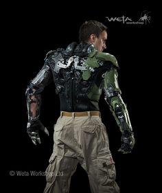green goblin de espalda armor