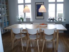 nordmyra chairs ikea with wooden table