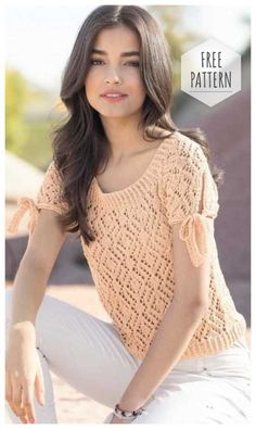 Apricot blouse crochet free pattern